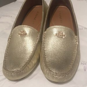 COACH MOCASINS/ LOAFERS GOLD